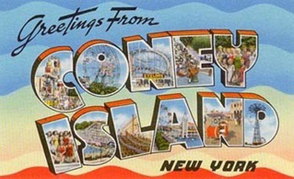 More brooklyn greetings from coney island brooklyn limestone if youve never heard of coney island its a neighborhood in brooklyn that was once an amusement area it reached the height of its popularity and poshness m4hsunfo